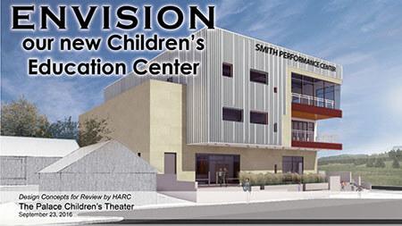 Render of the new Children's Education Center.