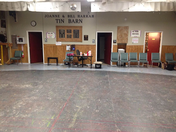 Georgetown Palace's Tin Barn rehearsal stage.