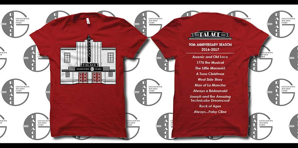 Georgetown Palace Theatre Annivesary T-Shirts